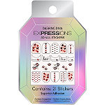 Dashing Diva 1,000 Kisses EXPRESSIONS Nail Art Stickers