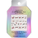 Dashing Diva Sweet Hearts EXPRESSIONS Nail Art Stickers
