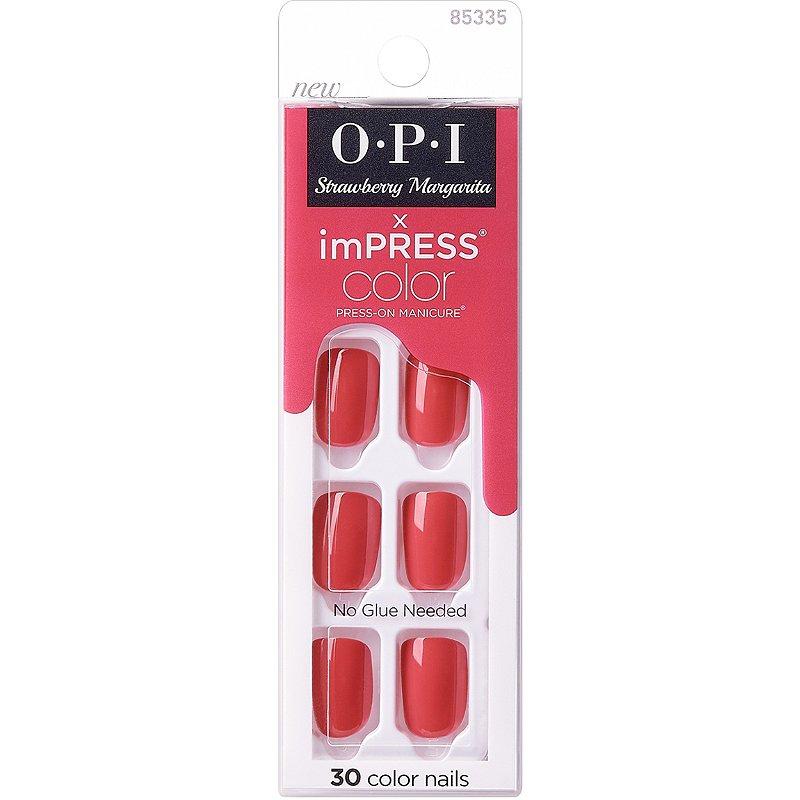 Kiss Strawberry Margarita Impress Color X Opi Press On Manicure Ulta Beauty