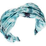 Scünci Aqua & Navy Blue Tie-Dye Headband