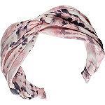 Scünci Pink & Gray Tie-Dye Headband