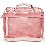 Tartan + Twine Pink Tinted PVC Deluxe Weekender