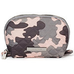 Tartan + Twine Camo Quilted Small Roundtop Clutch