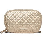 Tartan + Twine Gold Quilted Medium Roundtop Clutch