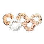 Kitsch Sand Assorted Textured Scrunchies Set