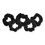 Kitsch Black Assorted Textured Scrunchies