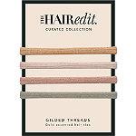 The Hair Edit Metallic Gilded Threads Hair Ties