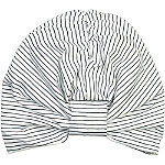 Conair The Basik Edition Striped Shower Cap