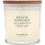HomeWorx Beach Bonfire 3 Wick Candle