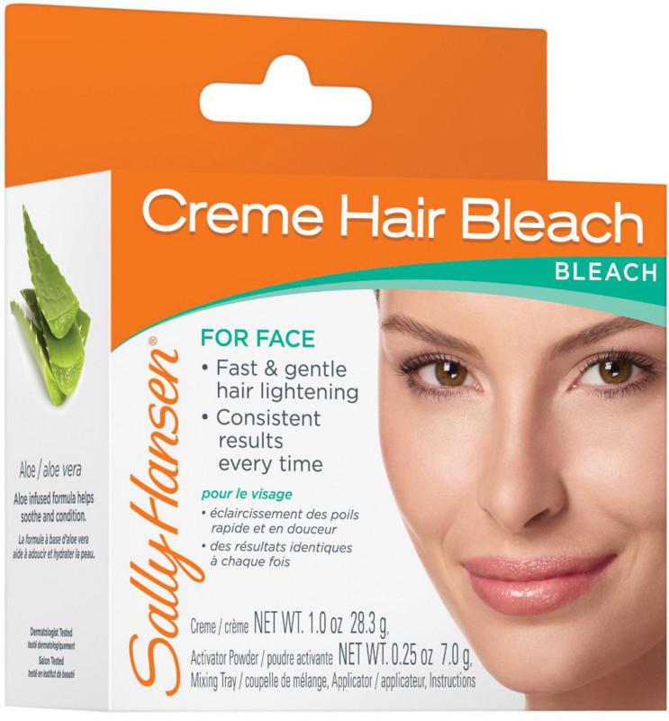 Can i bleach my facial hair