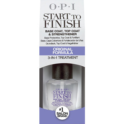 OPI Start To Finish Base Coat%2C Top Coat %26 Strengthener 3-in-1 Treatment