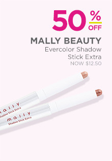 50% off Mally Evercolor Shadow Stick Extra, now $12.50, regular $25.