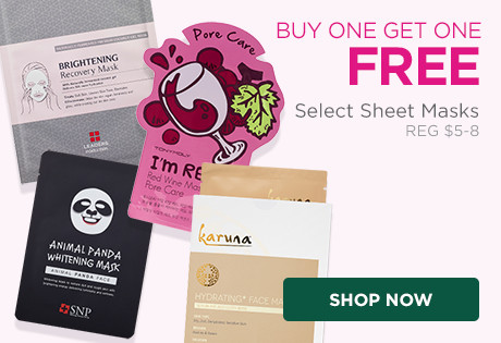 Select Sheet Masks are Buy One, Get One Free, includeing Patchology, Karuna and Leaders, Tony Moly, Biobelle, SNP, and others. Regular $5-$8.