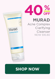 Murad Acne Complex Clarifying Cleanser is 40% off, regular $28.