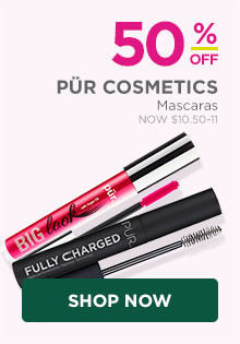 50% off all Pur Mascaras.