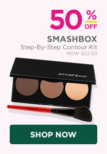 50% off Smashbox Step-By-Step Contour Kit, now $22.50, regular $45.