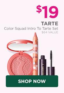 Tarte Color Squad Intro To Tarte Set is $19, a $64 value.
