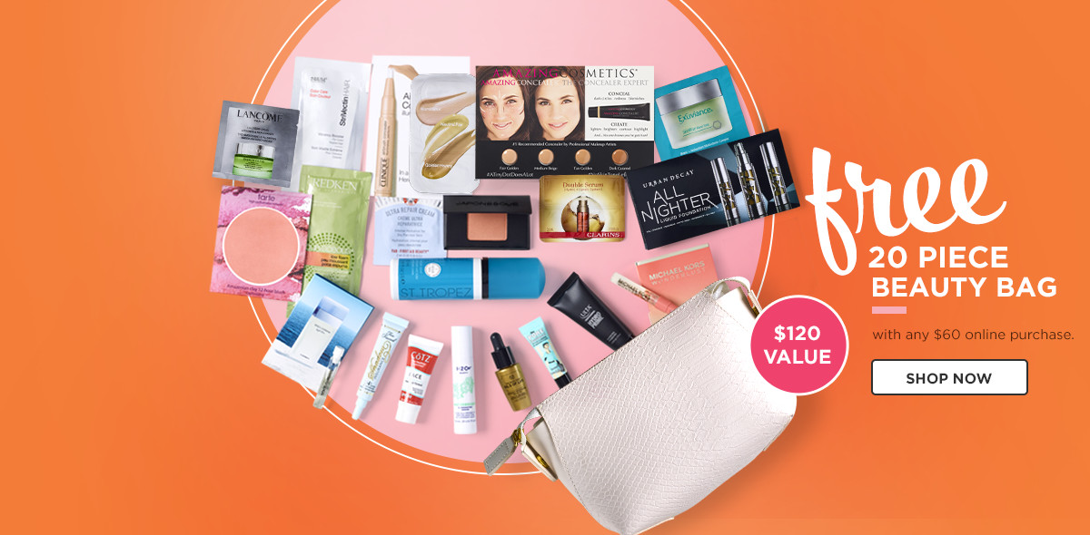 Receive a free 20-piece bonus gift with your $60 purchase