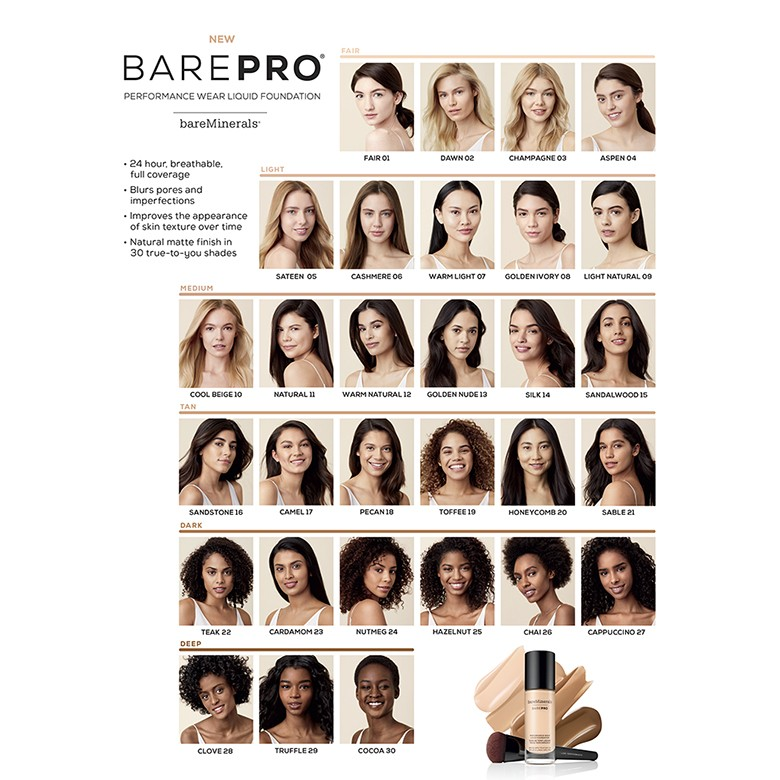 Bareminerals barepro performance wear liquid foundation broad