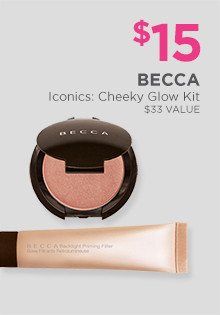 Becca Iconics: Cheeky Glow Kit is now $15. A $33 value.