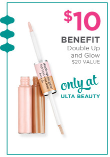 Benefit Cosmetics Double Up & Glow is now $10. A $20 value, only at Ulta Beauty.