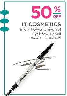 50% off IT Cosmetics Brow Power Universal Eyebrow Pencil. Now $12, regular $24.