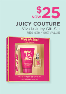 Viva la JuicyGift Set is now $25, regular $38. A $45 Value.
