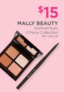$15 Mally Beauty Defined Eyes 2-piece Lip Kit, a$47 value.