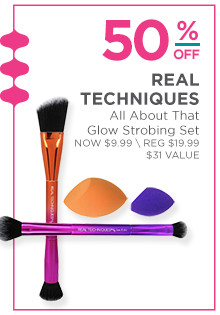 Real Techniques All About That Glow Set is now $9.99, regular $19.99.