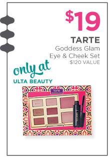 Tarte Goddess Glam Eye & Cheek Set is $19, a $120 value. Only at Ulta Beauty.