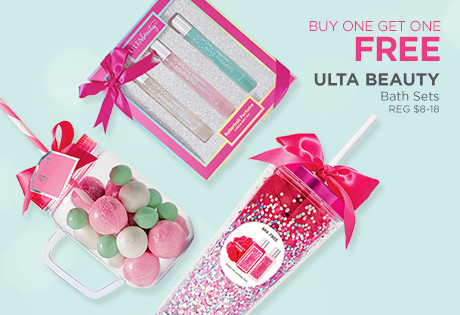 Ulta Collection Bath Sets are Buy One Get One FREE, regular $14 to $18 each.