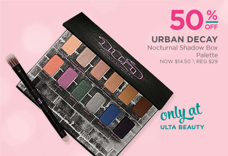 50% off Urban Decay Nocturnal Shadowbox Palette. Now $14.50, regular $29. Only at Ulta Beauty.