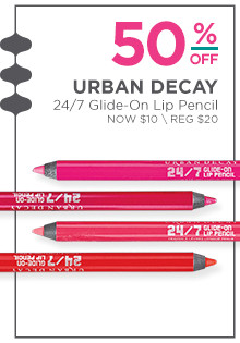 50% off Urban Decay's 24/7 Glide on Lip Pencil. Now $10, regular $20.
