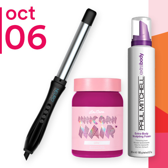 On Saturday Oct. 6 Paul Mitchell Neuro Unclipped Styling 1 inch Wand & 1.25 inch Tapered Wand and Limecrime Unicorn Hair Semi-Permanent Hair Color are 50% off. Select Styling of Paul Mitchell are $8.99.