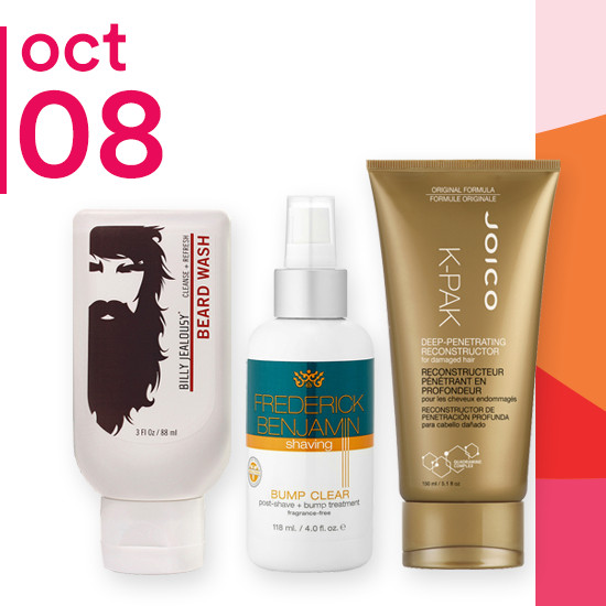 On Monday Oct. 8 entire brand of Billy Jealousy and select Men's Grooming items are 50% off. 5.1oz Joico K-PAK Reconstructor is $9.99