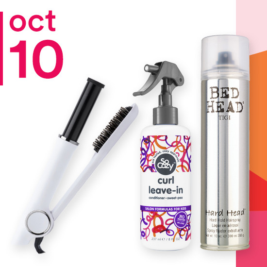 On Wednesday Oct. 10 select styling of Tigi is only $6.99. AIRLESS Blowout Revolving Styler and the entire line of So Cozy are 50% off.