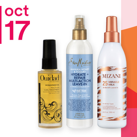 On Wednesday Oct. 17 8.5oz Mizani Miracle Milk and Ouidad Mongogo Oil & Meltdown Mask are 50% off. SheaMoisture Manuka Honey & Yogurt Line is now $5 to $5.75.