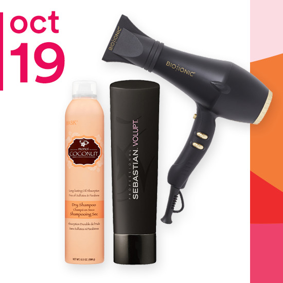On Friday Oct. 19 Sebastian Shampoo & Conditioner is now $8.99. Hask Shampoo, Conditioner, & Dry Shampoo is only $3.59 to $4.79 and Bio Ionic Gold Pro Speed Dryer is now 50% off.