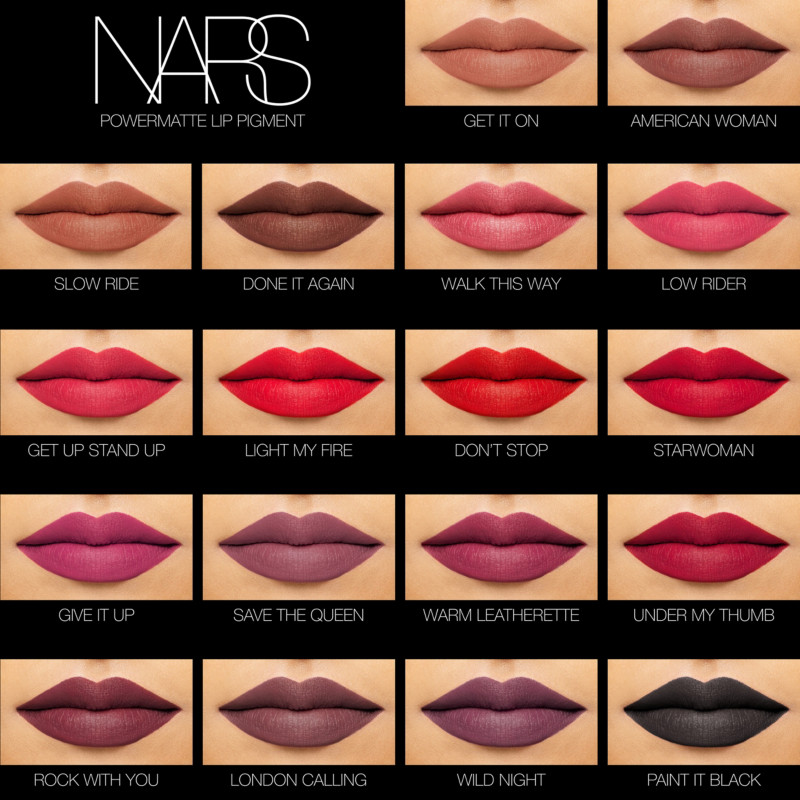 See Nars Matte Lip Pigment Shades On