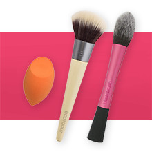 REAL TECHNIQUES & ECOTOOLS 40% Off Brushes, Sponges & Bath Accessories reg $2.49-19.99 Excludes Kits
