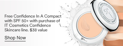 It Cosmetics Free Confidence In A Compact with SPF 50+ $38 value with purchase of It Cosmetics Confidence Skincare line