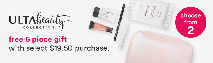 Free 6 Piece Gift with $19.50 purchase from the ULTA Beauty Collection purchase