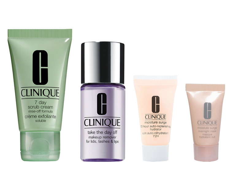 Receive a free 4-piece Clinique gift with any 3.4 oz Clinique Happy purchase.