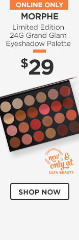 New & Only at Ulta Beauty! Morphe Limited Edition 24G Grand Glam Eyeshadow Palette $29