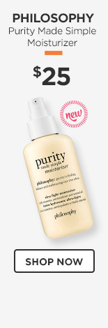 NEW! Philosophy Purity Made Simple Moisturizer $25.