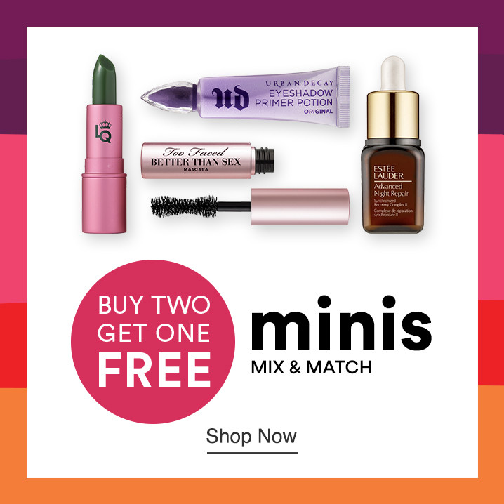 Mix & Match Minis - Buy Two Get One Free travel size makeup products during Ulta Beauty's 21 Days of Beauty. Shop online, in-store, or through our app.