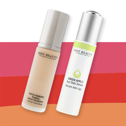 30% Off - JUICE BEAUTY PHYTO-PIGMENTS Flawless Serum Foundation & GREEN APPLE Age Defy Serum