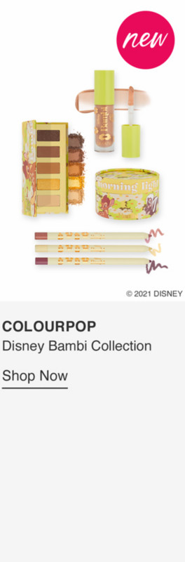 Coulourpop X Disney Bambi Pressed Powder Palette $14 ea  Life In The Woods Creme Gel Pencil Trio $24 ea  Morning Light Pixie Puff Highlighter $16  Lux Gloss $9 ea