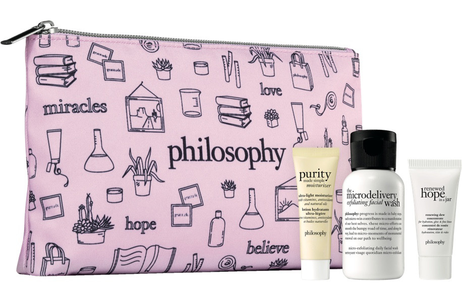 Get a free Philosophy gift set with a 4 oz. purchase of Philosophy Amazing Grace Ballet Rose.