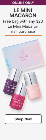Free GWP bag with any $15 Le Mini Macaron Nail purchase